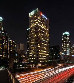 downtown los angeles skyline 4th street bridge-M